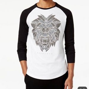Sean John Mens M lion raglan long sleeve shirt